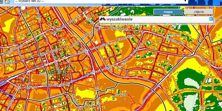 Mapa hałasu w Warszawie