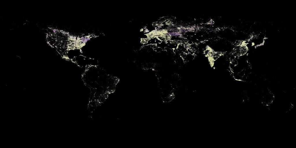 Nocne zdjęcie satelitarne świata_2001