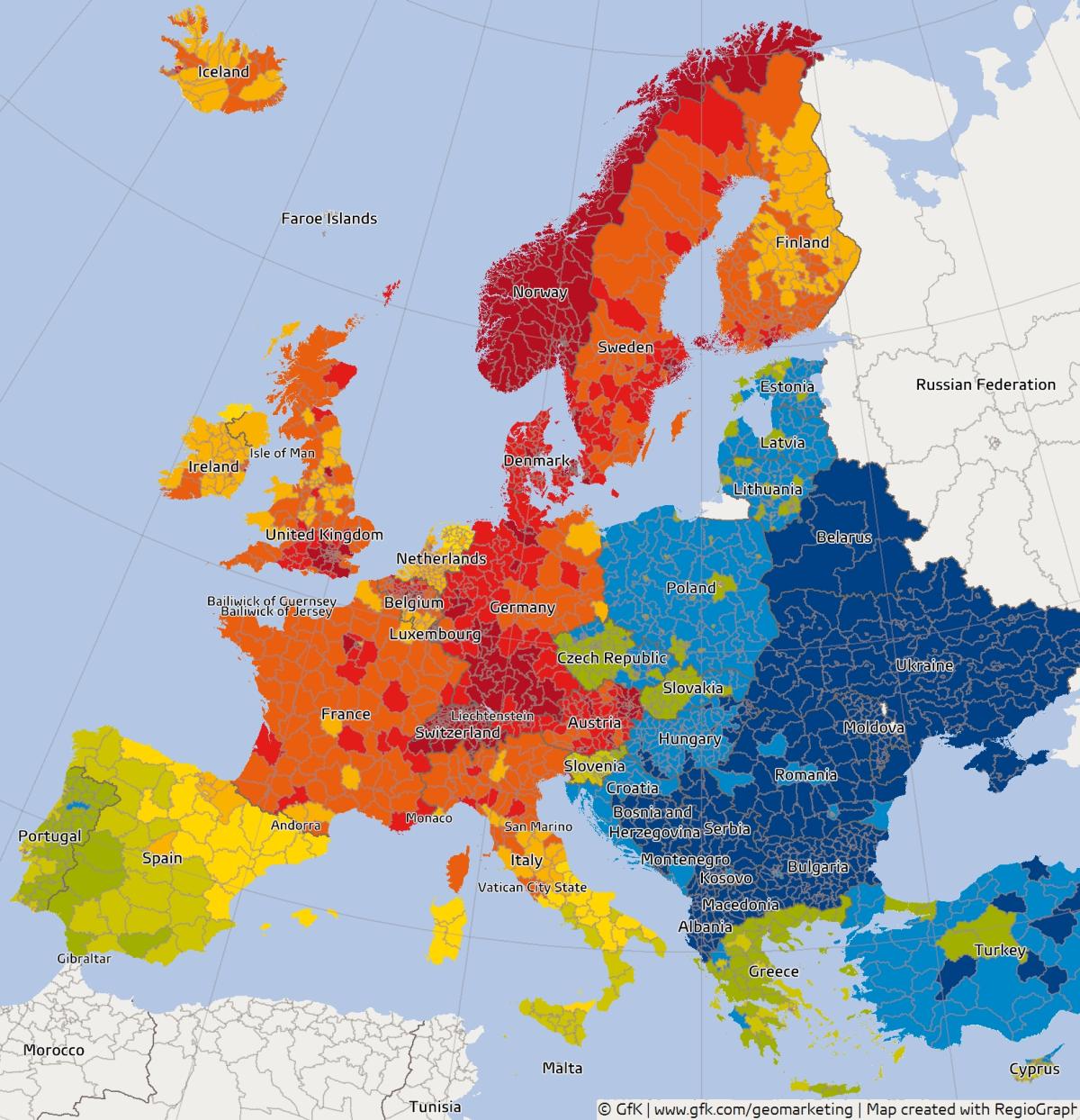 Siła nabywcza w Europie 2014/2015