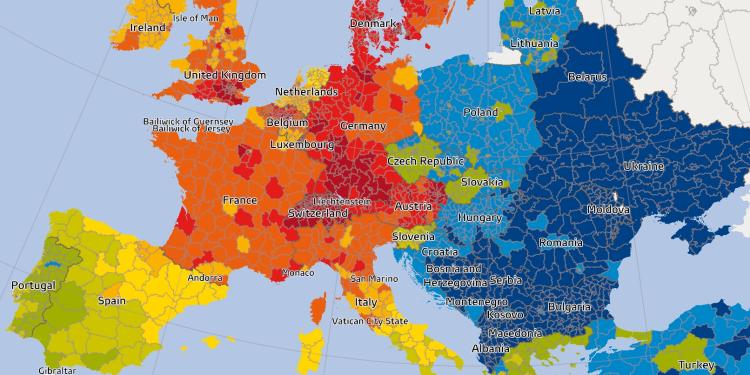 siła nabywcza w Europie