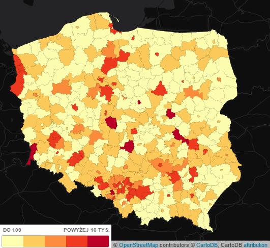 Zanieczyszczenie powietrza w Polsce - dwutlenek siarki