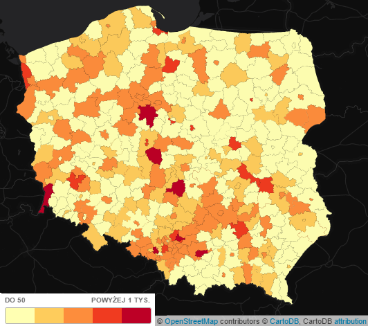 Zanieczyszczenie powietrza w Polsce - pyły