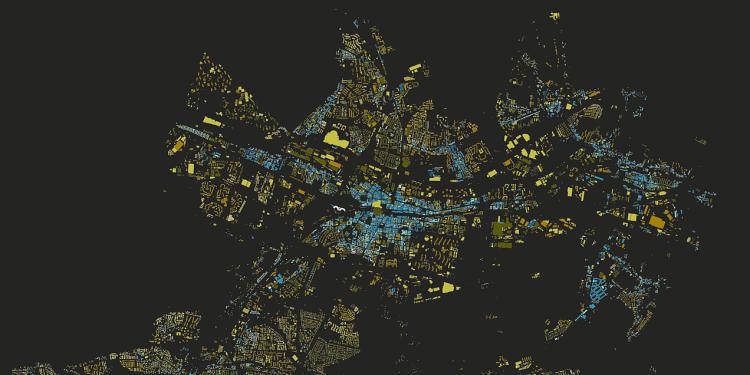 Katowice - mapa budynków